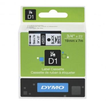 DYMO Easy Peel Split Back 19mm D1 Tape/ 19mm X 7m/ Black on White/ Single cassette system/ Thermal