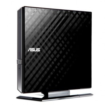Asus External USB DVD-R: W8xDVD+-R, 5xDVD-RAM, 24xCDR, 16xCDRW, USB2.0 Black SDRW-08D2S-U Lite