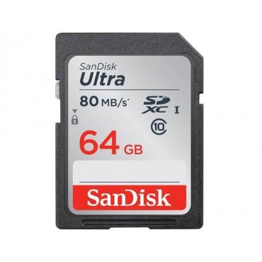 SanDisk 64G Ultra SDXC 80MB/ s 533X Class 10 SDSDUNC-064G-GN6IN
