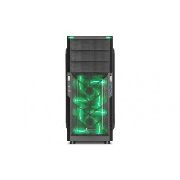 """Sharkoon ATX case 3x 5.25"""" drive bays (external), 3x 3.5"""" bays for HDDs &4x 2.5"""" bays for HDDs 212812"""