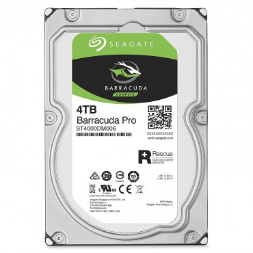 SEAGATE BARRACUDA PRO 4TB DESKTOP HD 3.5IN SATA3 6GB/S 7200RPM 128MCACHE ST4000DM006