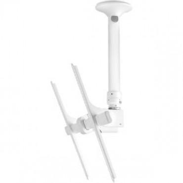 ATDEC TH-3070-CTSW TELEHOOK 3070 CEILING WHITE TILT SHORT 500-950MM. MAX WEIGHT 65KG PER SCREEN