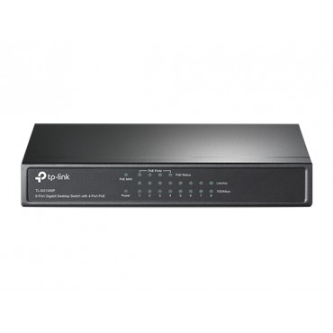 TP-Link POE Switch :8-Port Gigabit with 4-Port PoE (53W) TL-SG1008P