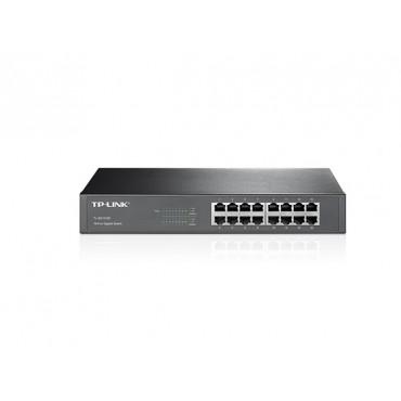 TP-Link Switch :16 Port Gigabit Metal RackMount (10/ 100/ 1000) (included) TL-SG1016D