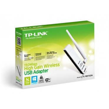 TP-Link USB Adapter: 150M Wireless Lite-N High Gain With Detachable Antenna TL-WN722N