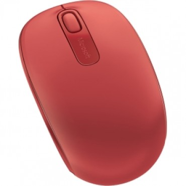 MICROSOFT Wireless Mobile Mouse 1850 - Flame Red. Comfortable and Portable. 2-way scroll wheel.