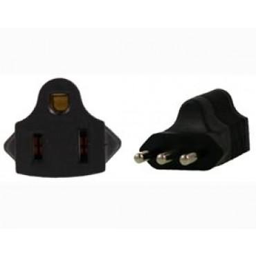US 3 Pin to Italy 3 Pin Plug Adapter