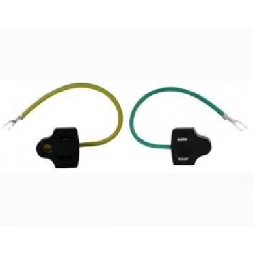 US 3 Pin to US 2 Pin w/ GND Plug Adapter