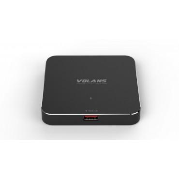 VOLANS Ultra-Thin Aluminium 4-Port USB3.0 Hub with Smart Charging Port VL-HC41