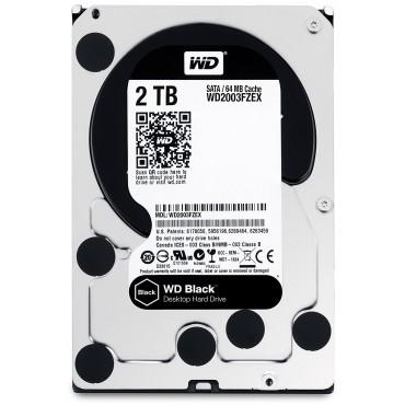 """Western Digital SATA 3.5"""" DRIVE: 2TB BLACK SATA3 6Gbs 64MB 7200rpm WD2003FZEX"""