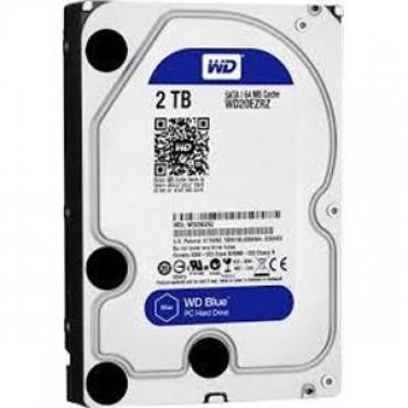 """Western Digital SATA 3.5"""" DRIVE: 2TB BLUE SATA3 6Gb/ s 5400RPM 64MB WD20EZRZ"""