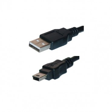Wicked Wired 1m Type A To Mini 5Pin USB 2.0 Data Cable WW-D-USB2MINAB1M