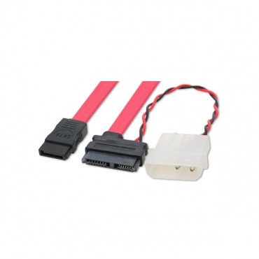 Wicked Wired 15cm 15Pin SATA Power & 80cm SATA Data Cable WW-P-PCSATAPWR