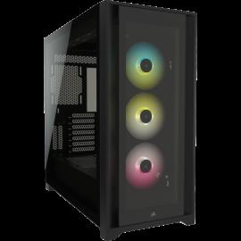 Corsair iCUE 5000X RGB Tempered Glass Mid-Tower Smart Case, Black (CC-9011212-WW)
