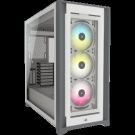 Corsair iCUE 5000X RGB Tempered Glass Mid-Tower Smart Case, White (CC-9011213-WW)