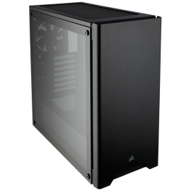 Corsair Carbide Series 275R Tempered Glass Mid-Tower Gaming Case 2x 120mm Fans, 2x USB 3.0 (275R-Black)