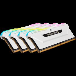 Corsair VENGEANCE RGB PRO SL 32GB (4x8GB) DDR4 DRAM 3200MHz C16 Memory Kit – White (CMH32GX4M4E3200C16W)
