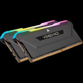 Corsair VENGEANCE RGB PRO SL 32GB (4x8GB) DDR4 DRAM 3600MHz C18 Memory Kit – Black (CMH32GX4M4D3600C18)