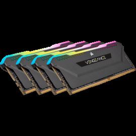 Corsair VENGEANCE RGB PRO SL 32GB (4x8GB) DDR4 DRAM 3200MHz C16 Memory Kit – Black (CMH32GX4M4E3200C16)