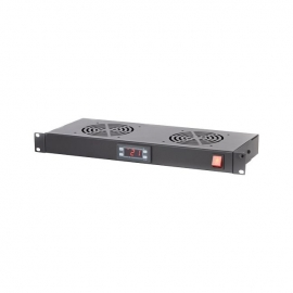 4Cabling 1Ru Digital Temperature Unit With 2 Way Cooling Fans 002.004.0015