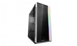 Deepcool MATREXX 55 V3 ADD-RGB WH Minimalistic Tempered Glass Case, White Colour, Supports E-ATX MB No Fans (CAD-MATREXX55V3-ARW3) DP-ATX-MATREXX55-AR-WH