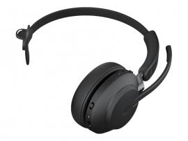 JABRA WIRELESS EVOLVE2 65 MS MONO BLUETOOTH HEADSET W/CHARGING STAND + USB-C +LINK 380C 26599-899-889