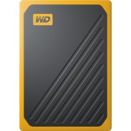 Western Digital MY PASSPORT GO PORTABLE SSD 1TB USB 3.0 SPEEDS UP TO 400 MB/S BUILT-IN CABLE AMBER COLORED 3Y (WDBMCG0010BYT-WESN)