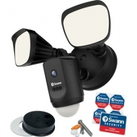 Swann WI-FI FLOODLIGHT SECURITY SYSTEM WITH 1080P CAMERA SPEAKER LIGHT- BLACK COLOUR Swwhd-Flocamb-Au