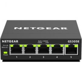 NETGEAR 5-PORT GIGABIT ETHERNET SMART MANAGED PLUS SWITCH (GS305E-100AUS)