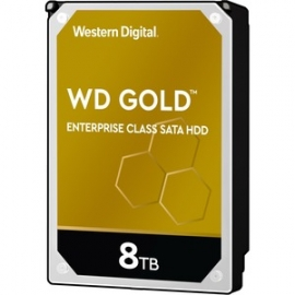 Western Digital Gold Enterprise Class SATA Hard Drive 8TB Gold 256 MB 3.5IN SATA 6GB/S 7200RPM (WD8004FRYZ)