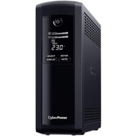 Cyberpower VALUE PRO 1200VA / 720W LINE INTERACTIVE UPS - 2 12V/7.2AH (VP1200ELCD)