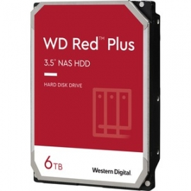 """WD Red Plus WD60EFZX 6 TB Hard Drive - 3.5"""" Internal - SATA (SATA/600) - Conventional Magnetic Recording (CMR) Method"""