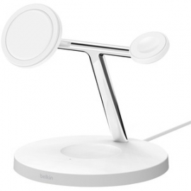 Belkin BOOSTCHARGE PRO 3-in-1 Wireless Charger with MagSafe White WIZ009AUWH