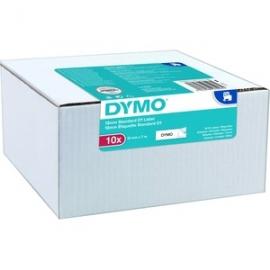 DYMO TAPE D1 12MMX7M BLK/WHT - BULK PACK OF 10 2093097