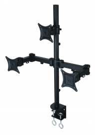 "Speed Triple Monitor Arm Desk Mount Up To 27"" & 10Kg Per Arm (Mnt-Speed-Lcd3502/T)"