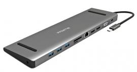BLUPEAK USB-C MULTI-PORT DOCK 2XHDMI/VGA/RJ45/3XUSB3.0/SD/AUDIO/PD (2-YEAR WARRANTY) UCMP111
