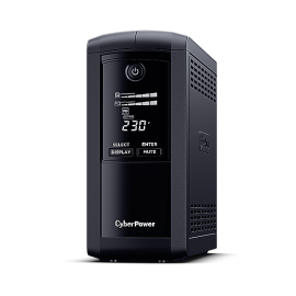 Cyberpower Systems Value Pro 1000 / 550W Line Interactive Ups - 1 12V/9Ah - 2 Yrs Adv. Replacement Wty Incl. Internal Batteries VP1000ELCD