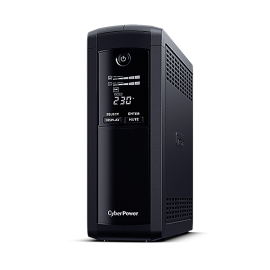 CyberPower Systems Value Pro - (VP1600ELCD)- 1600VA / 960W Line Interactive UPS - 2* 12V/9AH - 2 Yrs Adv. Replacement WTY Incl. internal Batteries