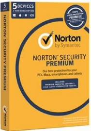 Symantec Norton Security Premium 3.0 5 Devices 1 Year Subscription Oem Cd Media 21353883 Oem