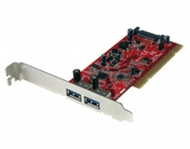 Startech 2 Port Pci Superspeed Usb 3.0 Adapter Card With Sata Power - Dual Port Pci Superspeed