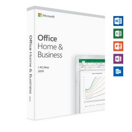 MICROSOFT OFFICE 2019 HOME & BUSINESS - RETAIL BOX FOR WINDOWS 10 AND MAC - P6 (T5D-03301)