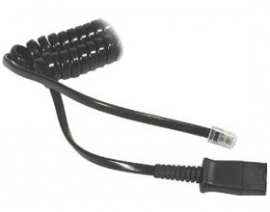 Plantronics Col Qd To Male Modular Plug M12/ M22 Vista U10 26716-01