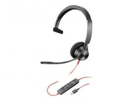 PLANTRONICS BLACKWIRE 3310-M, UC, MONO USB-C CORDED HEADSET - PROMO ENDS 30SEP21 214011-01