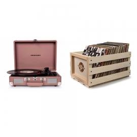 Crosley Cruiser Turntable - Purple Ash + Bundled Record Storage Crate (CR8005D-PA)