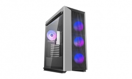 Deepcool CL500 4F-AP High Airflow Mid-Tower ATX Case Mesh Front Panel, Tempered Glass Side Panel, 4 Pre-installed A-RGB Fans (R-CL500-BKNMA4N-A-1)