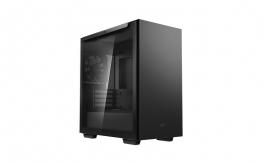Deepcool MACUBE 110 Black Minimalistic Micro-ATX Case, Magnetic Tempered Glass Panel (R-MACUBE110-BKNGM1N-G-1)