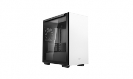 Deepcool MACUBE 110 White Minimalistic Micro-ATX Case, Magnetic Tempered Glass Panel (R-MACUBE110-WHNGM1N-G-1)
