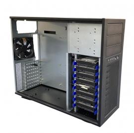 TGC Tower Server Chassis 4U 555mm Depth, 3x Ext 5.25' Bays, 8x Int 3.5' Bays, 8x Full Height PCIE Slots, ATX PSU/MB (TGC-T95)