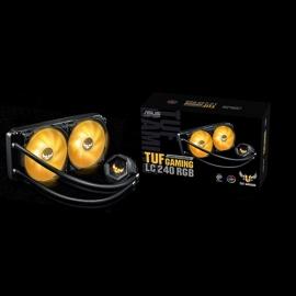 ASUS TUF Gaming LC 240 RGB ALL-IN-ONE Liquid CPU Cooler, Aura Sync, Dual TUF 120mm RGB Radiator Fan (TUF GAMING LC 240 RGB)