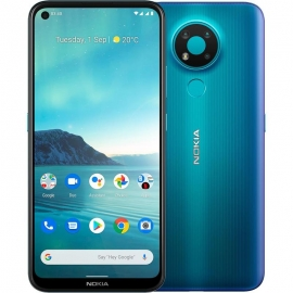 Nokia 3.4 64GB Fjord - 6.3' HD+ Punch Hole Display, RAM 3GB, Qualcomm Snapdragon 460, Stylish and Durable, Dual SIM, 4000 mAh Battery (HQ5020KC95000)